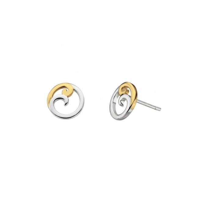 Kit Heath Cosima Gold Stud Earrings - Gold Plated