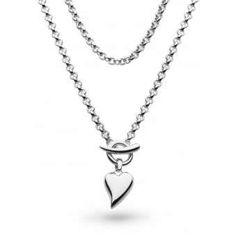 Kit Heath Desire Lavish Lust Heart T-Bar Necklace