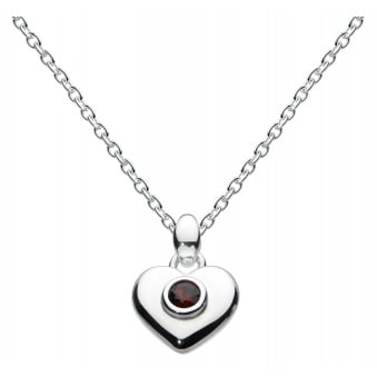 Kit Heath for Girls Birthday Birthstone Heart Necklace - January