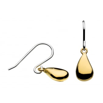 Kit Heath Pebble Tumble Gold Plate Drop Earrings