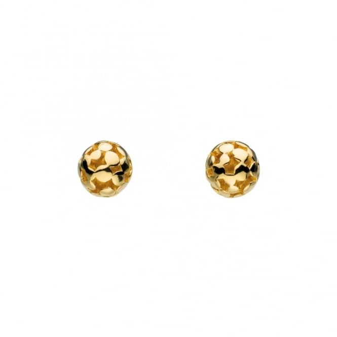 Kit Heath Small Champagne Gold Plated Stud Earrings
