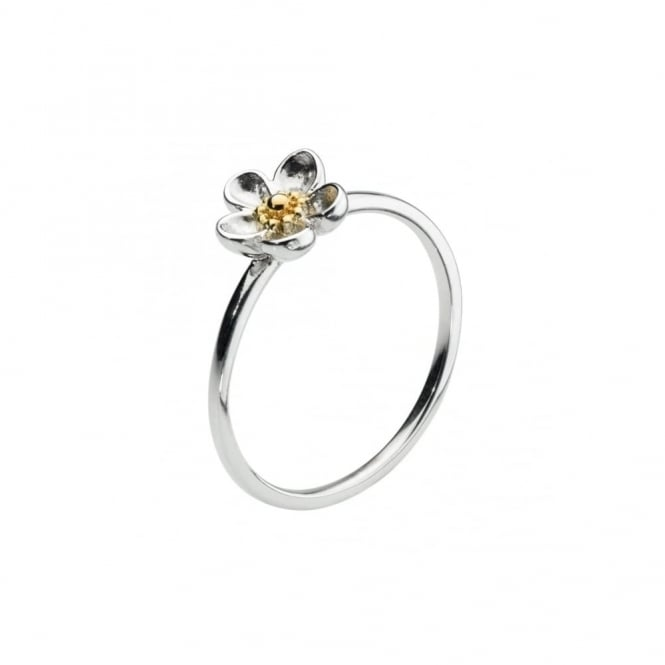 Kit Heath Wood Rose Ring - Gold Plated