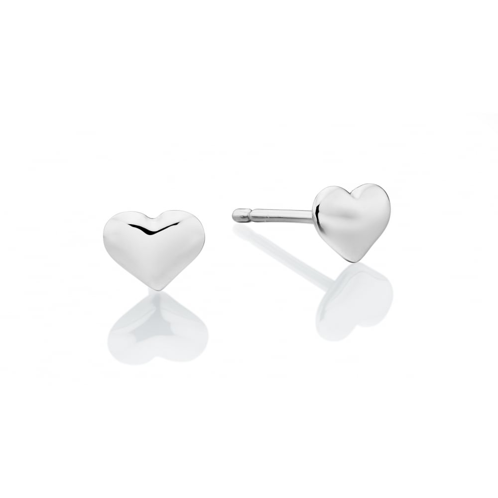 sterling from earring zoom stud simply earrings silver jewellery heart