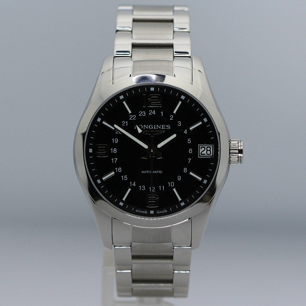 1716f3302 Longines Conquest GMT Automatic Steel Gents Watch L2.799.4 - Watches ...