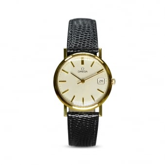 Omega 9ct Yellow Gold Manually Wound Gents Dress Watch