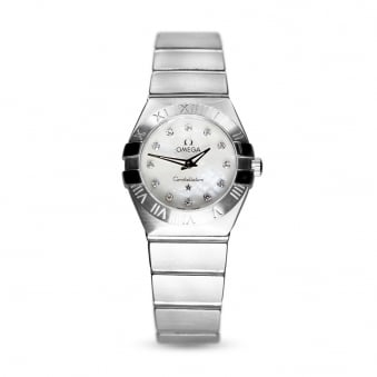 Omega Constellation Diamond Dial Steel Ladies Watch
