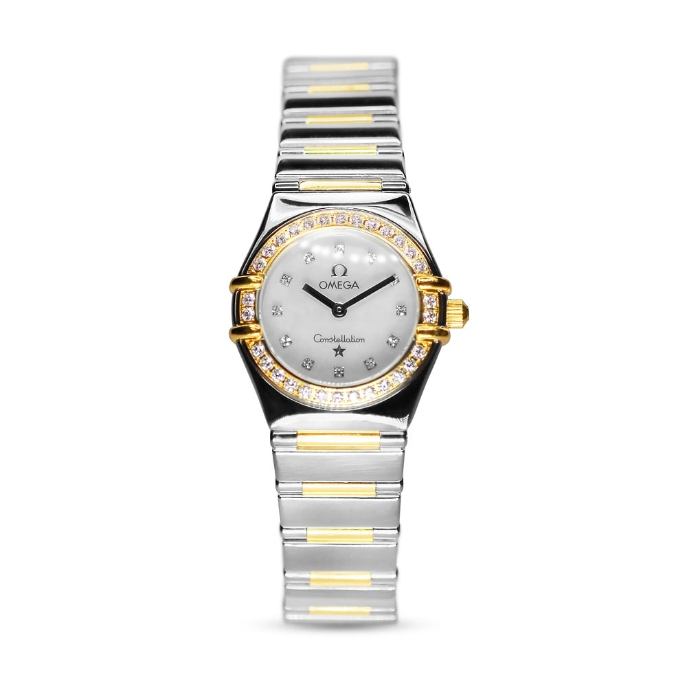 6e9fd02c067 Preowned Omega Constellation Steel   Gold Diamond-Set Watch1365.75.00