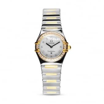 Omega Constellation Steel & Gold Diamond Set Ladies Watch