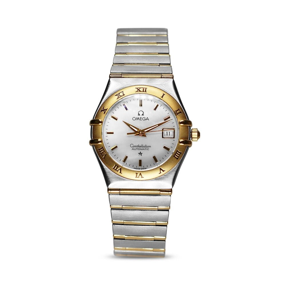 9a1ad1dfb77 Preowned Omega Constellation Ladies Watch Midsize Yellow Gold Steel
