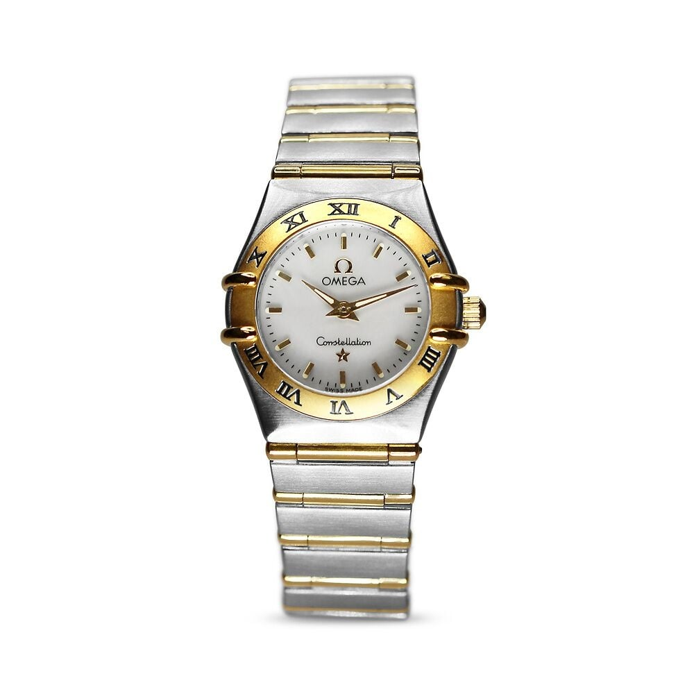7a81a0d93b6 Preowned Omega Constellation Ladies Watch Swiss Yellow Gold Steel