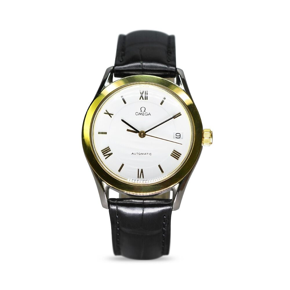 Preowned omega maison fondee gents watch for Maison omega