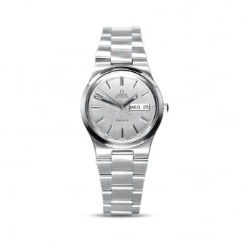 Omega Steel Automatic Geneve Gents Day-Date Watch Cal,1022