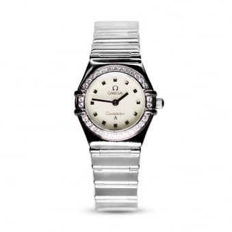 Omega Steel Ladies Constellation with Diamond Bezel