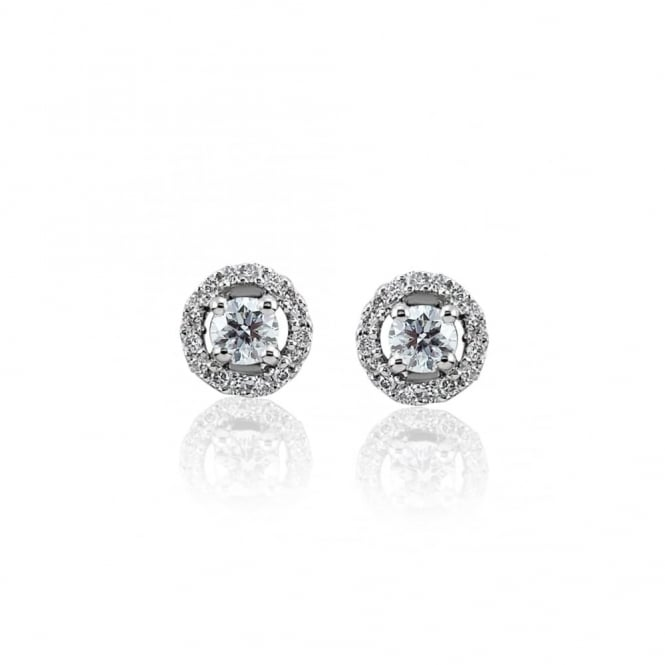 Platinum Diamond Earrings, 0.25ct