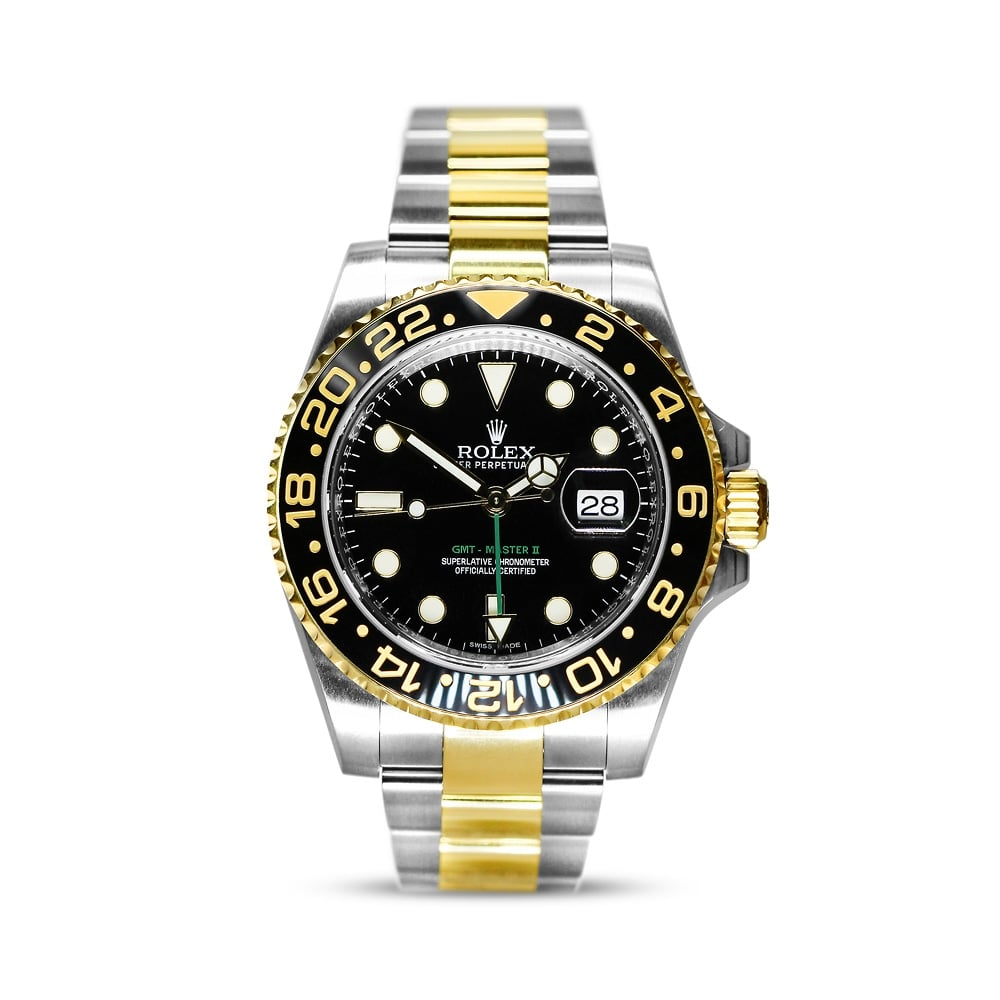 1814739db Preowned Rolex Oyster Perpetual GMT Master II Bimetal Watch 116713LM