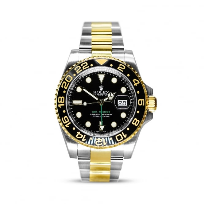 Rolex GMT Master II Steel & Yellow Gold Mens Watch 116713LN
