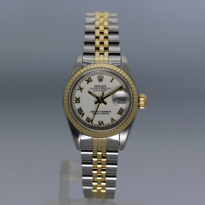 Rolex Oyster Perpetual Datejust Steel Amp Gold Ladies Watch