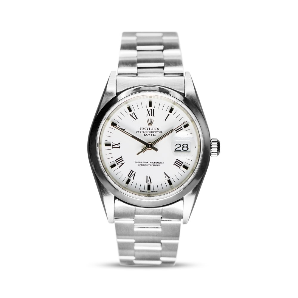 Rolex Oyster Perpetual Stainless Steel Date 15200 White Dial Gents