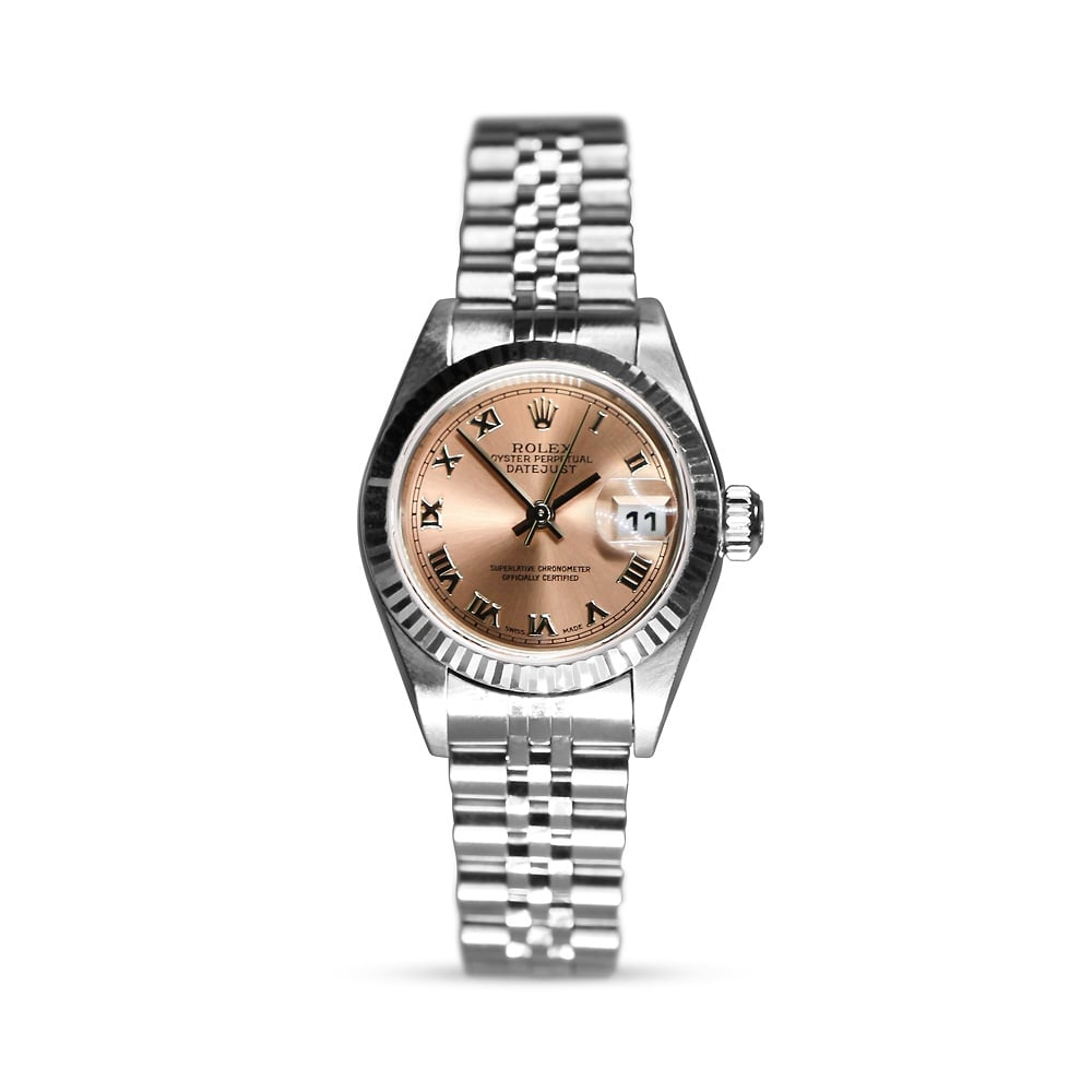 Rolex Ladies Datejust 69174 Salmon Pink Dial Jubilee Bracelet