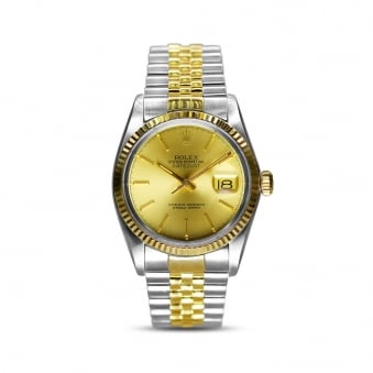 Rolex Steel & Yellow Gold Gents Datejust 16013