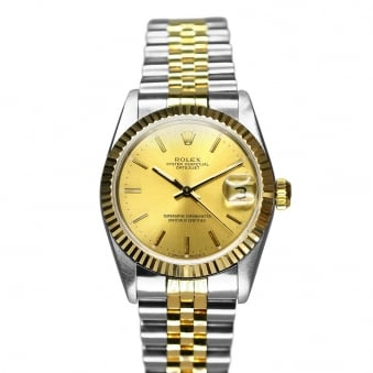 Rolex Steel & Yellow Gold Midsize Datejust 68273