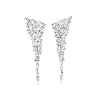 Sif Jakobs Antella Grande Earrings with White Zirconia