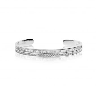 Sif Jakobs Corte Bangle with White Zirconia
