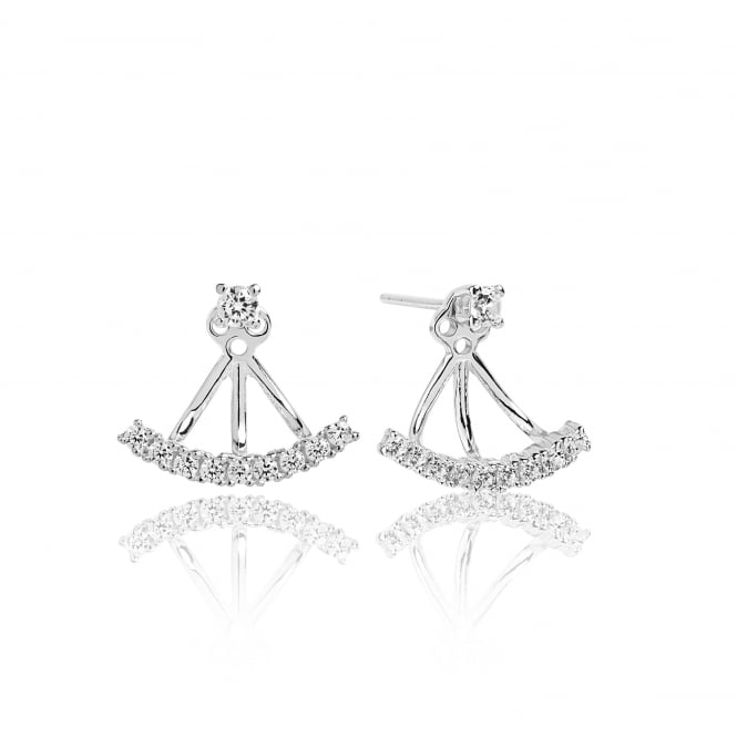Sif Jakobs Princess Ear Jackets with White Zirconia