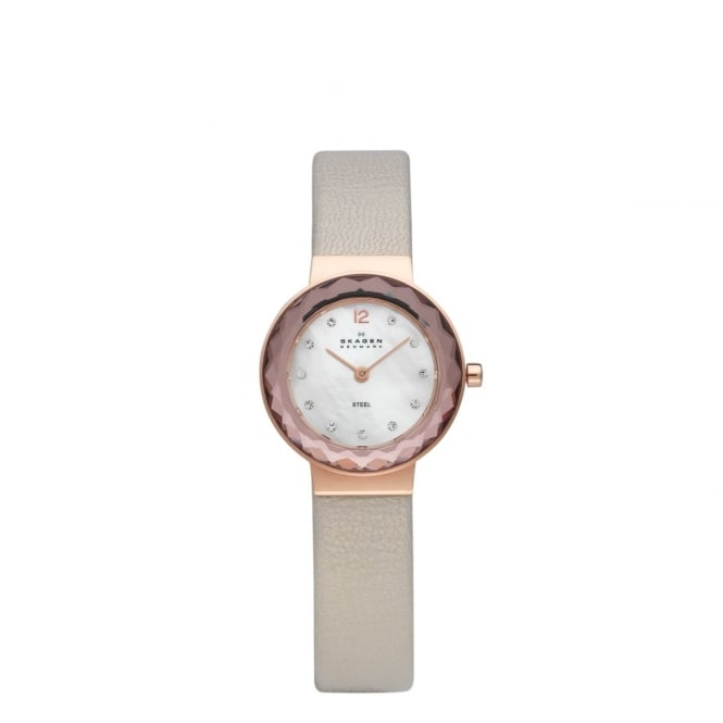 Skagen Ladies Studio Leather Strap Watch