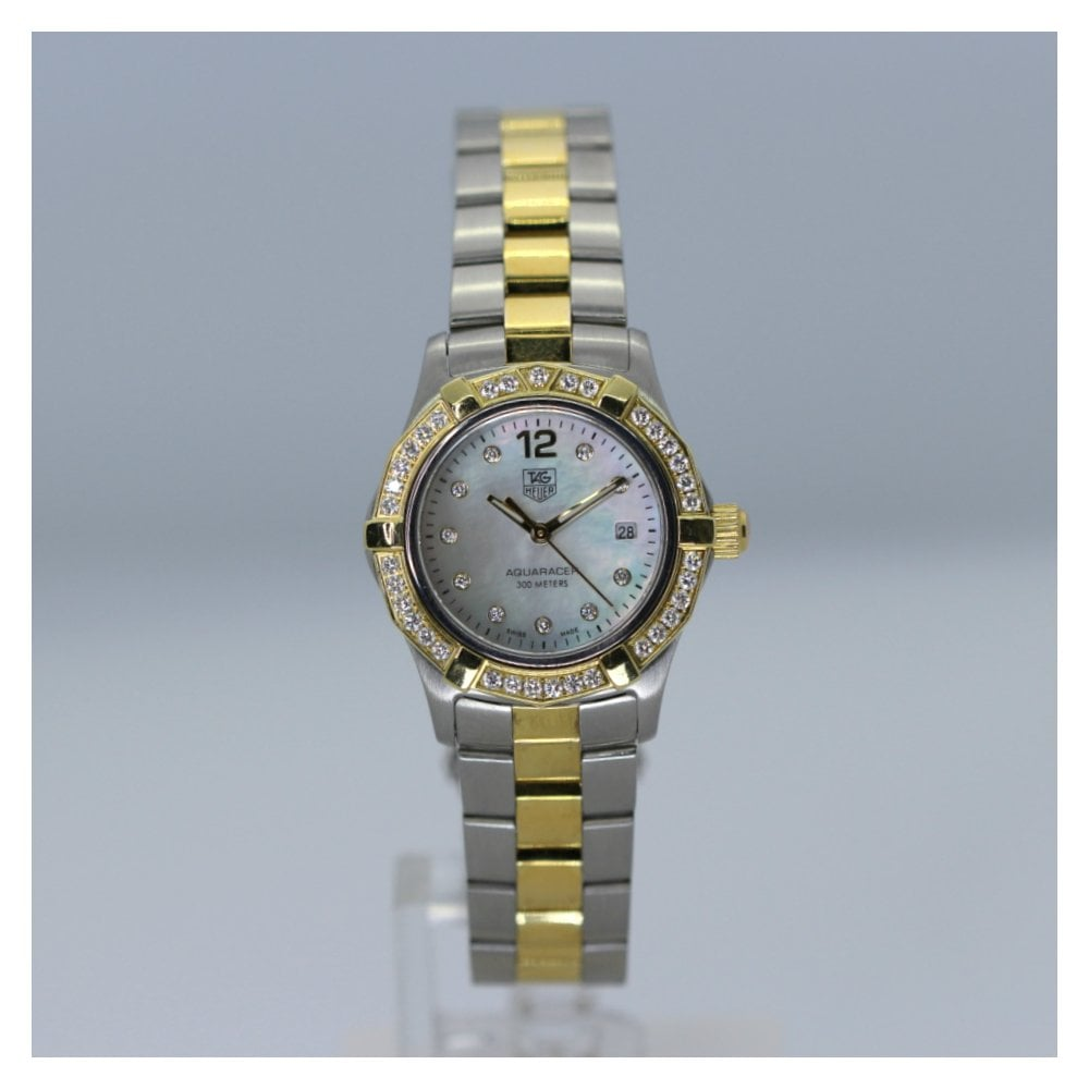 Tag Heuer Aquaracer Steel And Gold Ladies Watch Waf1450