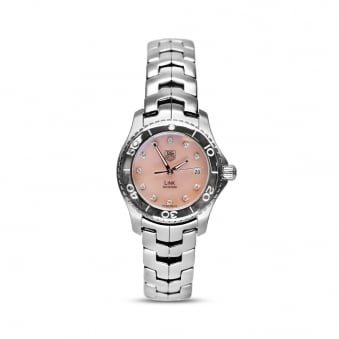 Tag Heuer Link - Pink Mother of Pearl Diamond Dotted Dial