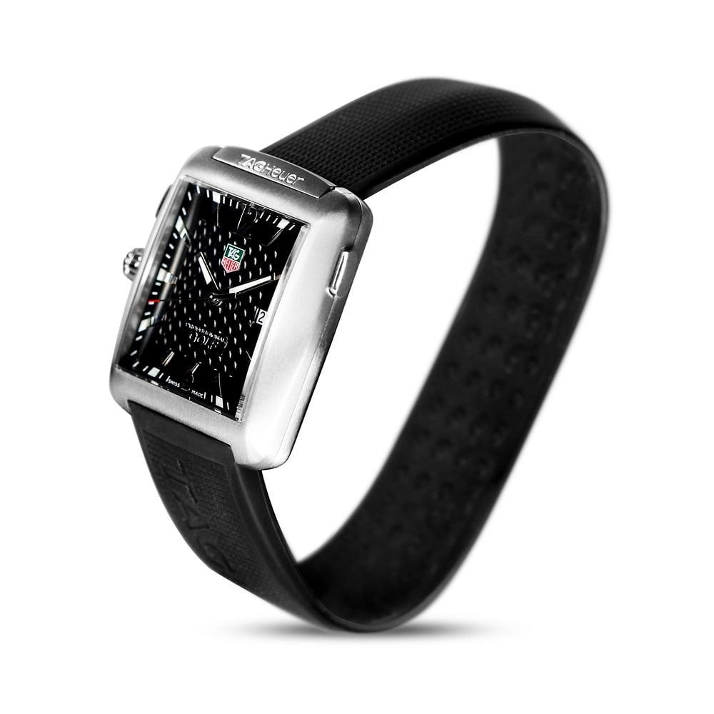54008a773cf Tag Heuer Pro Golf Steel   Titanium Rubber Strap Watch WAE1111 ...
