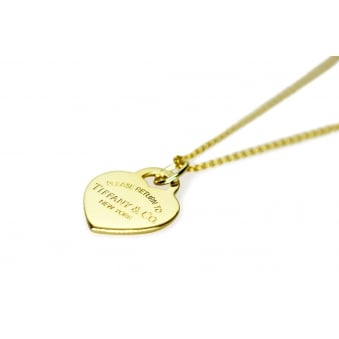 Tiffany & Co Heart Pendant on 18ct Trace Chain