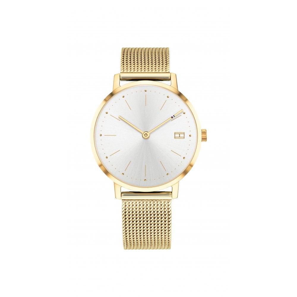 c1b88b02357d9 Tommy Hilfiger Tommy Hilfiger Pippa Gold Plated Ladies Mesh Bracelet Watch