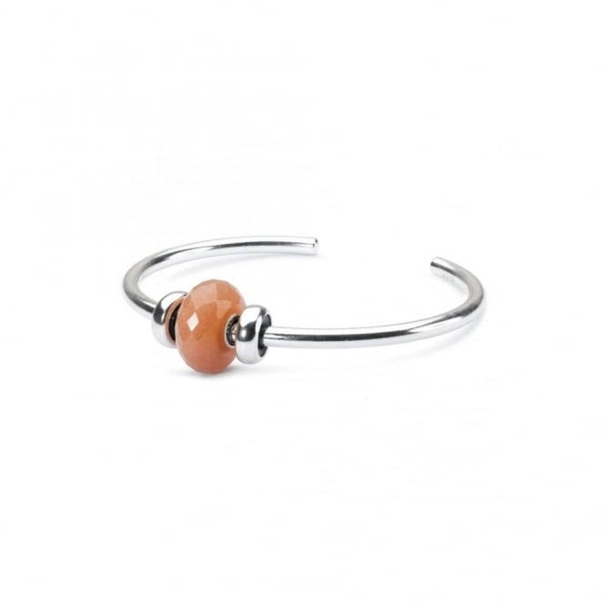 Trollbeads 'Say Hello' Peach Sorbet Bangle, Medium