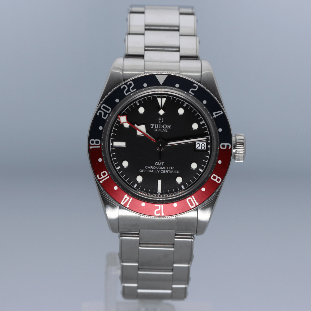 Automatic Black Bay Gmt Pepsi Steel Gents Watch 79830rb