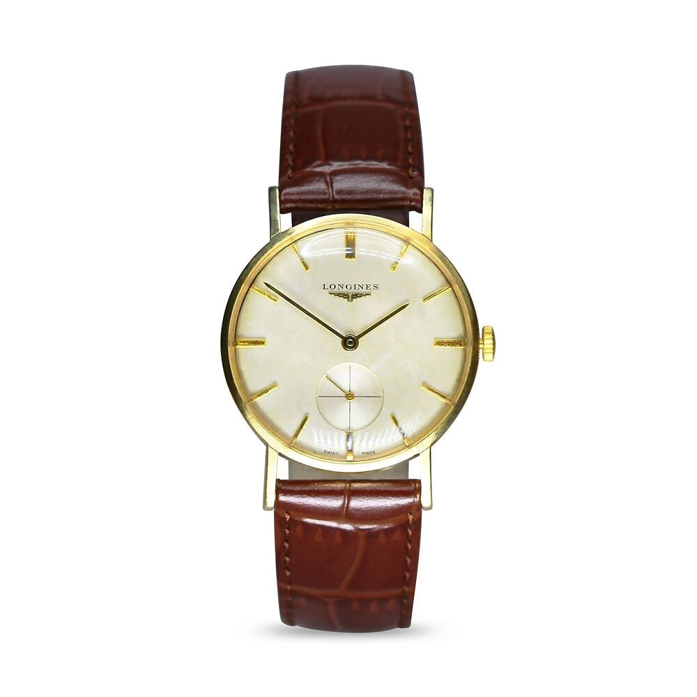 Longines Vintage 9ct Longines Manual Wind Dress Watch