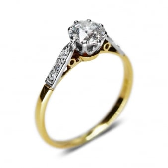Vintage/Art-Deco Style Diamond Solitaire Ring